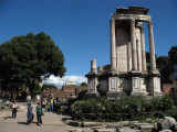 Walking by the Temple of Vesta