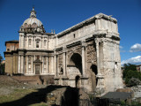Arch of Septimius Severus and nearby church