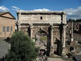 Arch of Septimius Severus from the Tabularium