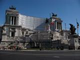 Scaffold-covered Monumento Vittorio Emanuele II