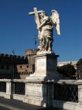 Angelic statue on the bridge