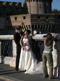 Newlyweds on Ponte Sant'Angelo