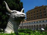 Bull's head and cloisters