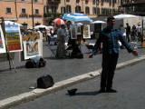 Singer busking on Piazza Navona