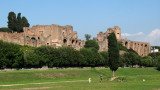 Palatine ruins view from the Circus Maximus