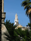Bell tower of Chiesa di San Nicola peeking out
