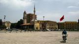 Pedaling across Skanderbeg Square