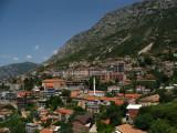 Kruja below its towering mountain