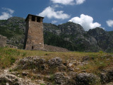 Lone tower in the castle grounds