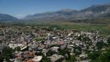 Modern Gjirokastra at the valley bottom