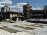 Communist-era buildings around the main square