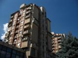 Tower blocks in central Tetovo