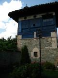 Blue painted tower at the Baba Arabati tekke