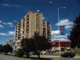 Socialist-era housing along Agim Ramadani