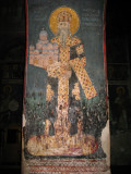 Pillar fresco inside Gračanica Monastery