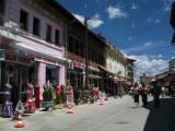 Street in Peja's old bazaar