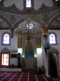 Chandelier inside the Bajrakli Mosque