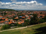 View over Peja from the southwestern hills