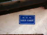 Street sign in honor of Madeleine Albright