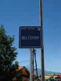 Street sign named after Bill Clinton