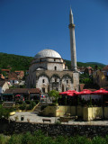Sinan Pasha Mosque from across the Bistrica