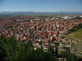 Sprawl of Prizren's red-roofed suburbs