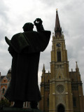 Svetozar Militeć statue and Catholic Cathedral