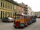 Trolley cars on Trg Slobode