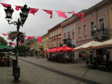 Flags flapping over Zmaj Jovina