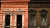Contrasting facades