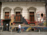 Urban artwork on an old facade