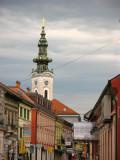 View down Pašićeva to Church of St. George