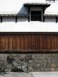 Parked bicycle, Shikemichi