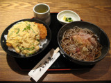 Katsu-don and local speciality: Oroshi-soba