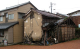 Decaying building in Mikuni town