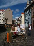 Souvenir stand along Skārņu iela