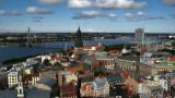 Old Rīga skyline and the Daugava