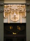 Art Nouveau detail above a doorway