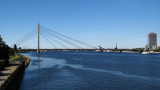 View up the Daugava to Vanšu Bridge