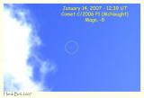 2007 January 14 - 12.39 UT - Comet McNaught in broad daylight