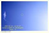 2007 January 14 - 12.53 UT - Comet McNaught in broad daylight