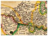 detail oude kaart uit 1606 met Nieuwstadt