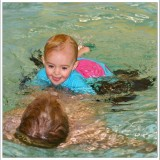 Family Swimming in July 2008