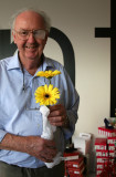 Pete showing off his flowers!!!
