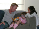 Uncle Cam, Hannah and Molly