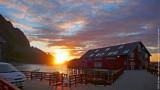 Sunrise at A i Lofoten Village