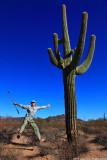 Jump at Organ Pipe Cactus N.M., Arizona
