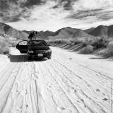 Shooting at Field, Sierra Nevada Country Road, California