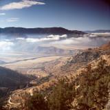Descending Sierra Nevada Mountains, CA, USA