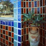 Vasone & wall decor, Avalon, St.Catalina Islland, CA, USA